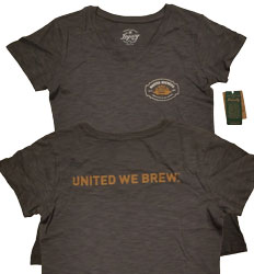 """United We Brew"" Women's (Pepper) Medium T-shirt"